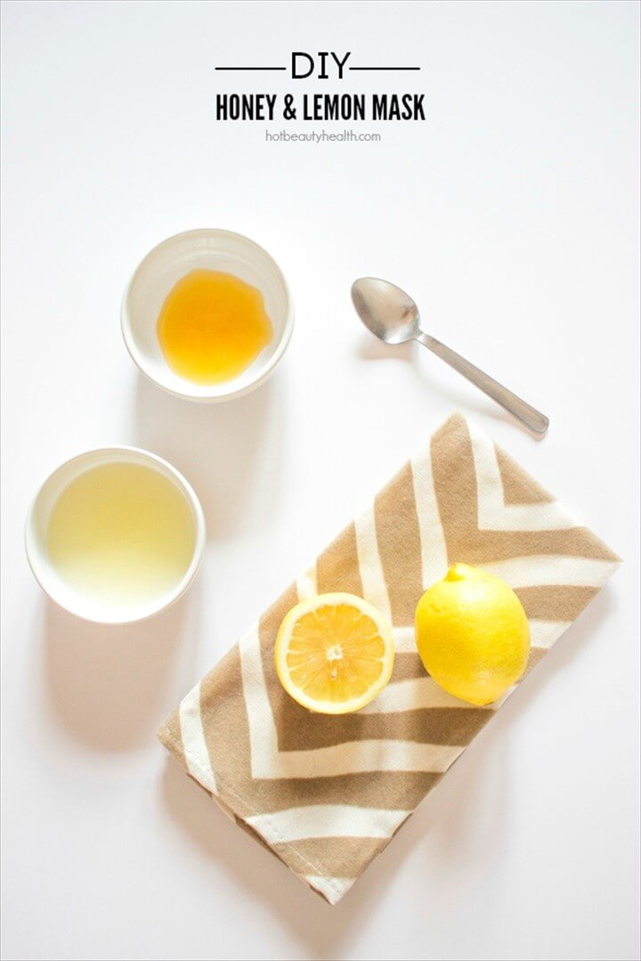 Homemade Honey Lemon Face Mask DIY