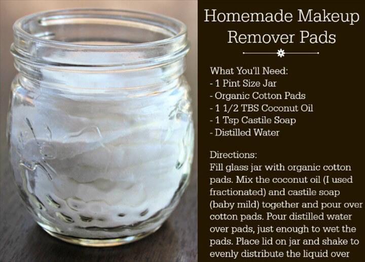 Homemade Makeup Remover Pads DIY