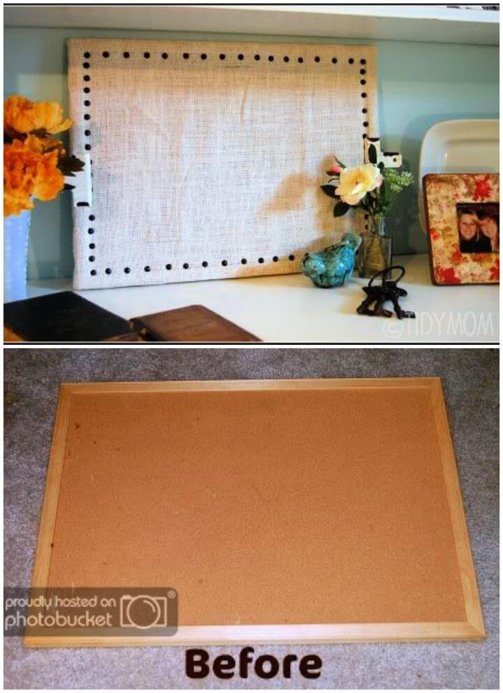 How To Build A DIY Burlap Bulletin Board