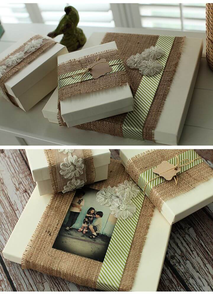 How To Build A DIY Burlap Gift Packaging