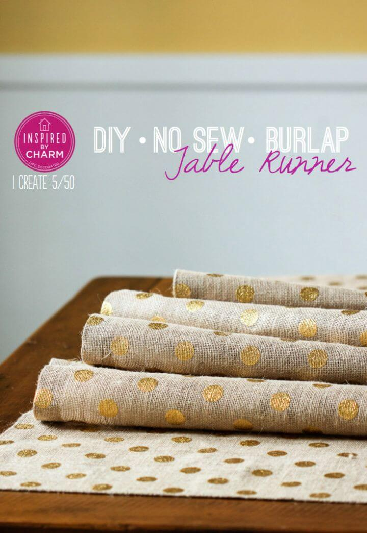 How To Build A DIY No Sew Burlap Table Runner