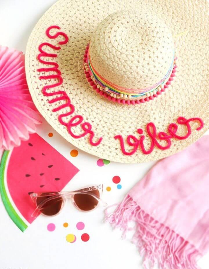 How To DIY Custom Summer Sun Hats