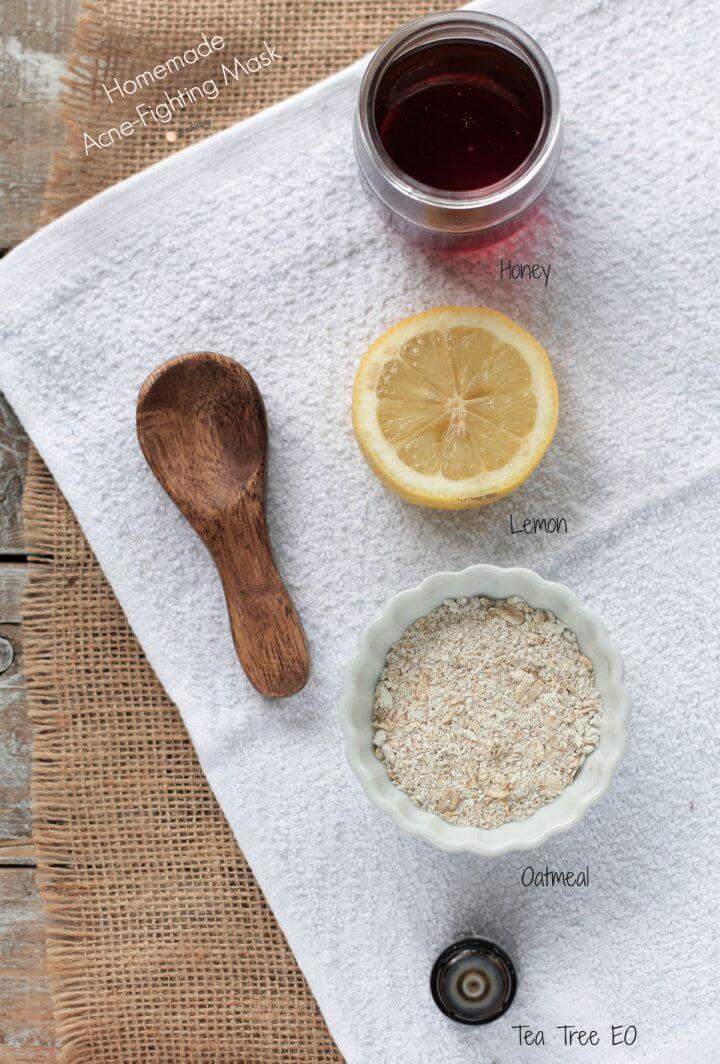 How To DIY Homemade Honey Oatmeal Acne Mask