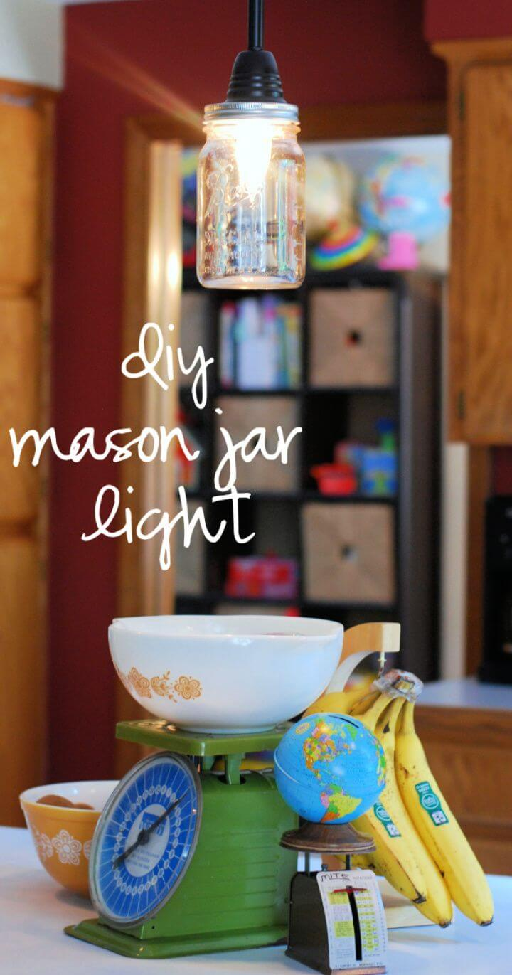 How To DIY Mason Jar Pendant Light