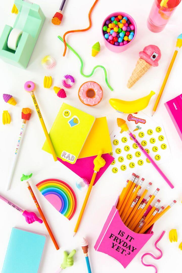 How To DIY Pencil Toppers