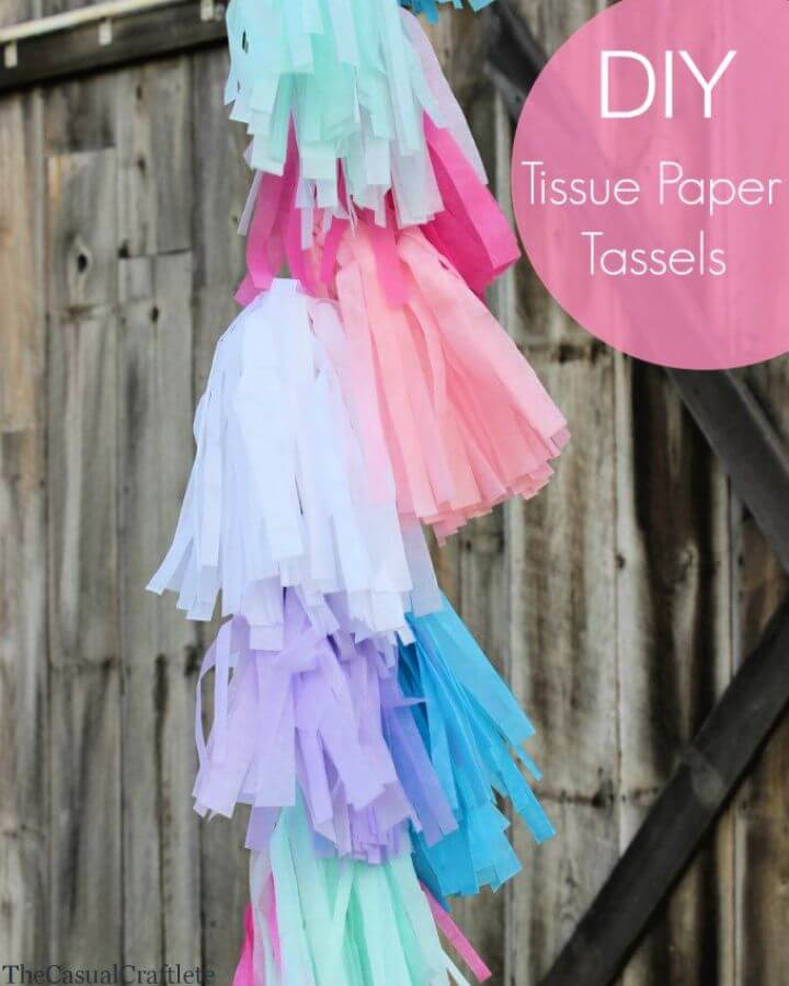 How To DIY Tissue Paper Tassels