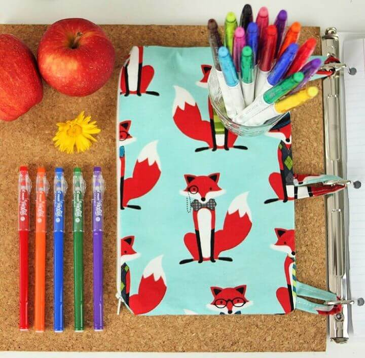 How To Make A DIY Binder Pencil Case