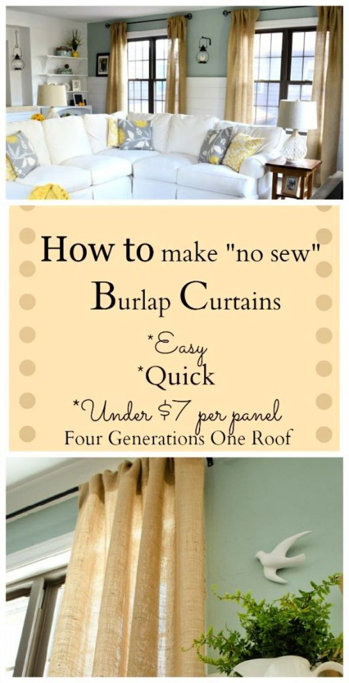 How To Make A DIY Curtains Using Burlap