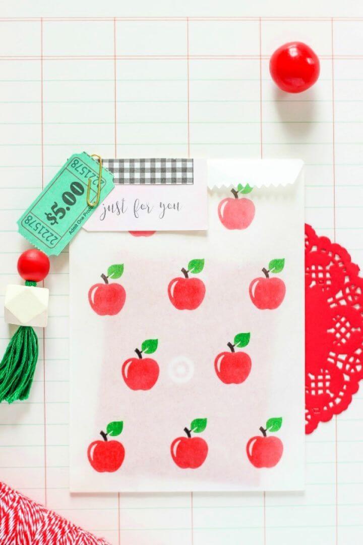 How To Make A DIY Custom Stamped Favor Bag
