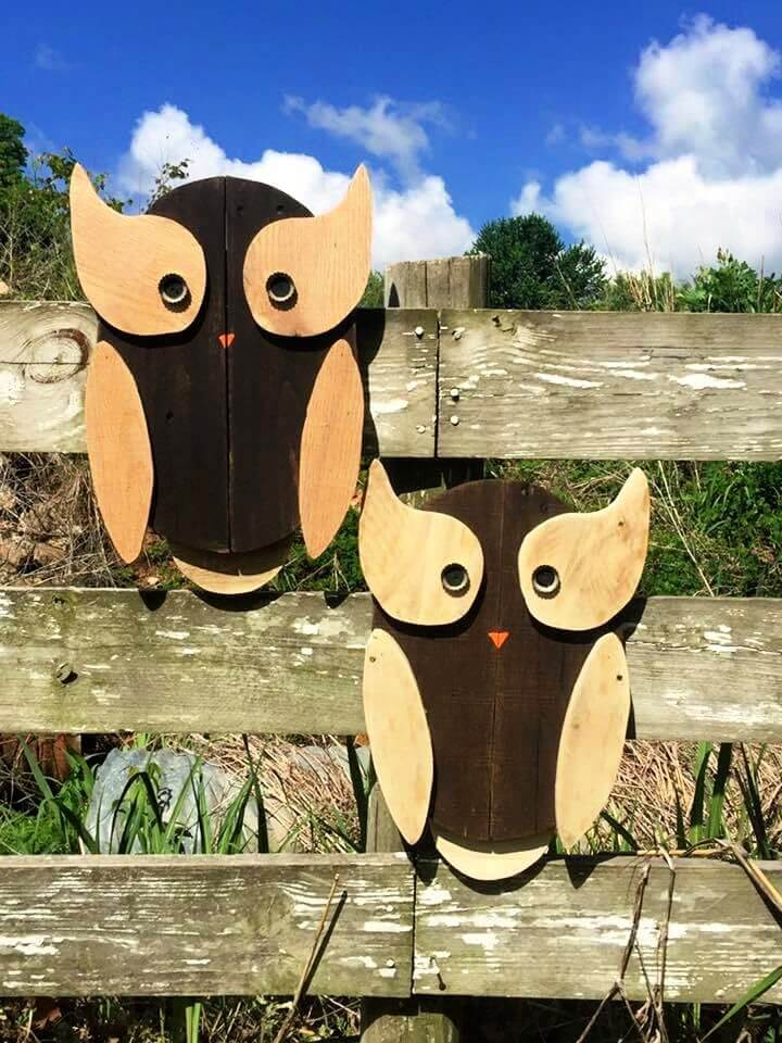 How To Make A DIY Wood Pallet Owls Art