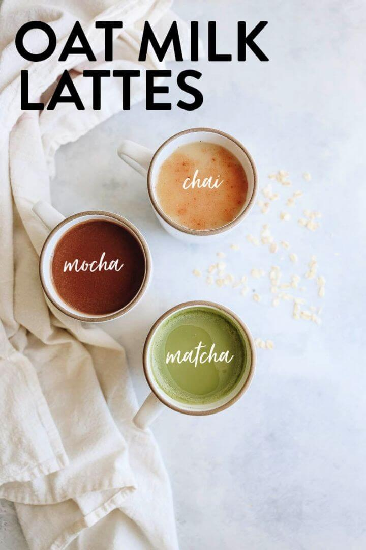 How To Make Oat Milk Lattes