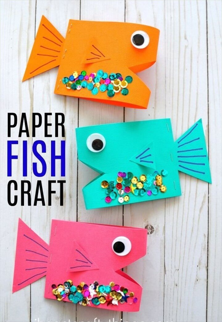 How To Make Super Cute Paper Fish Craft