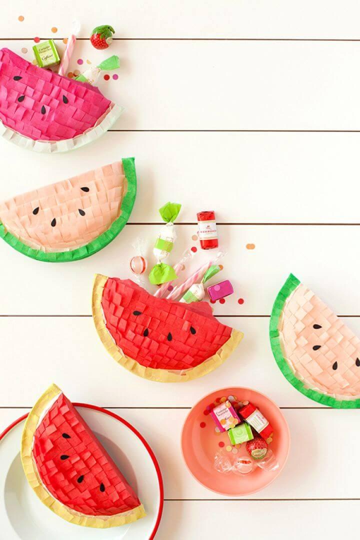 How To Make Watermelon Piñatas