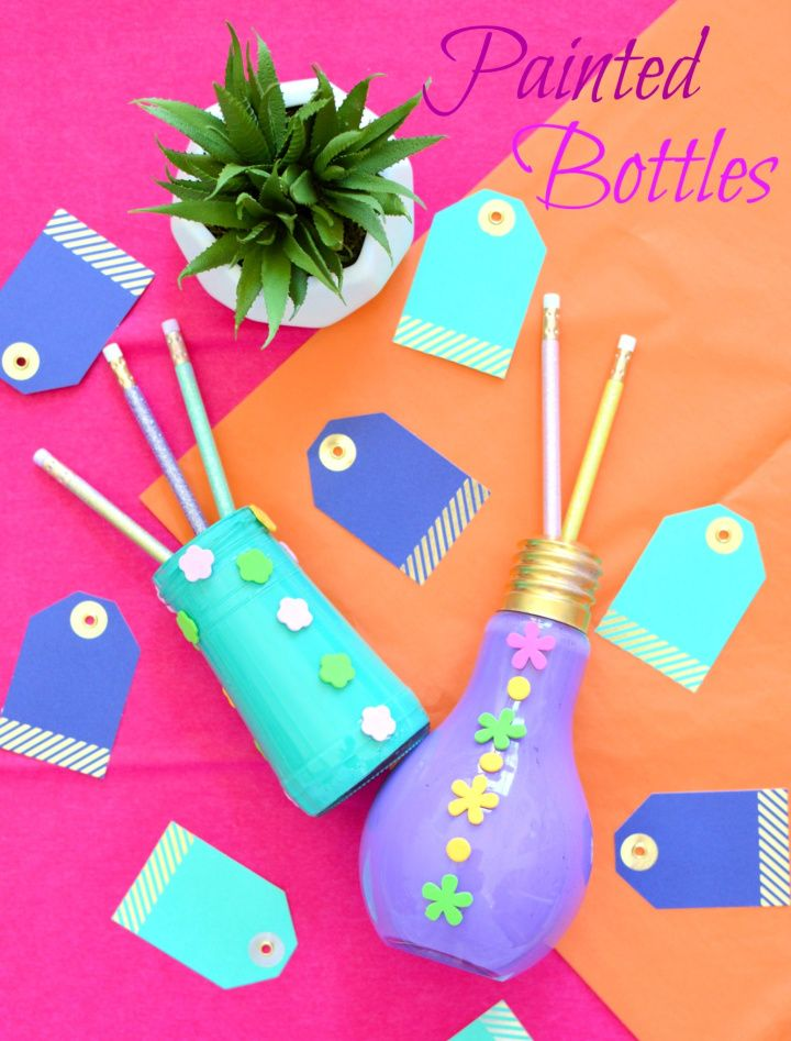 How To Make Your Own DIY Painted Bottles