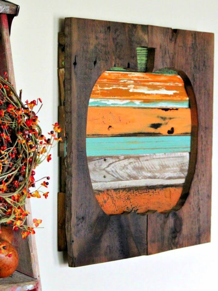 How To Reclaimed Wood Pallet Pumpkin
