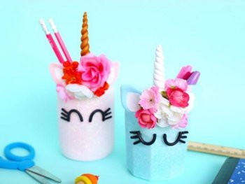 How To Unicorn Pencil Mason Jars