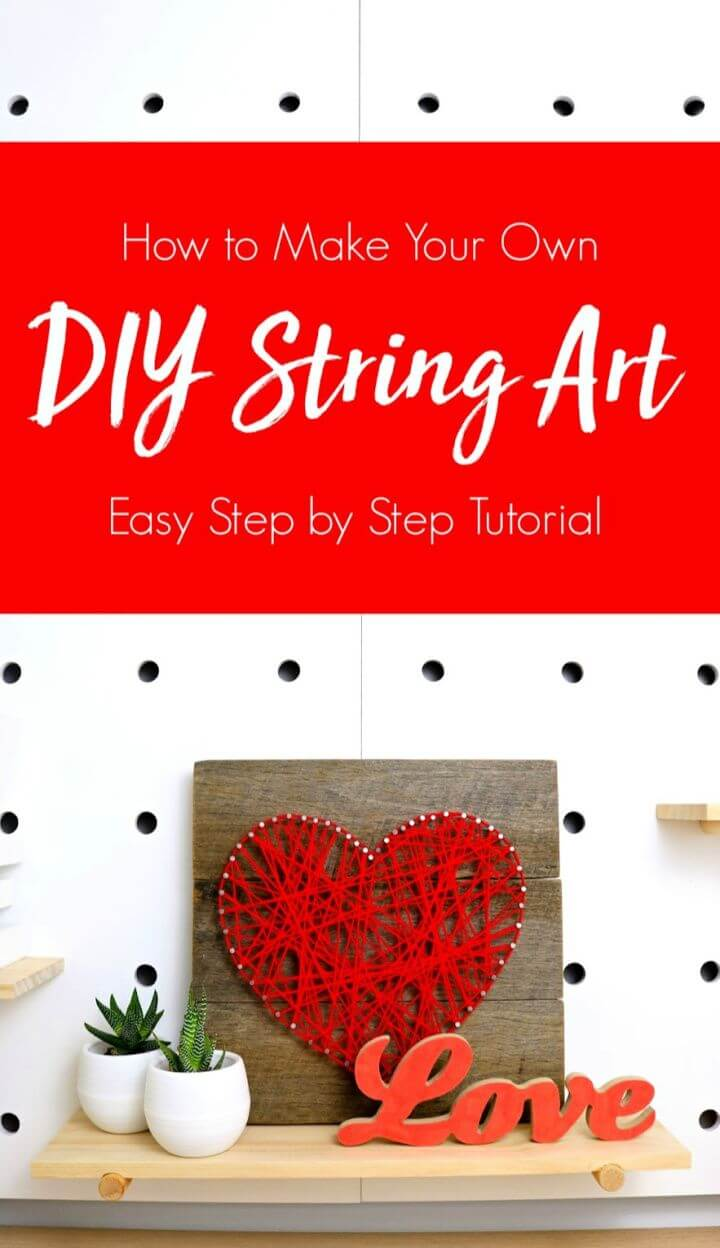 How to Make String Art Using Recycled Wood Pallet Art