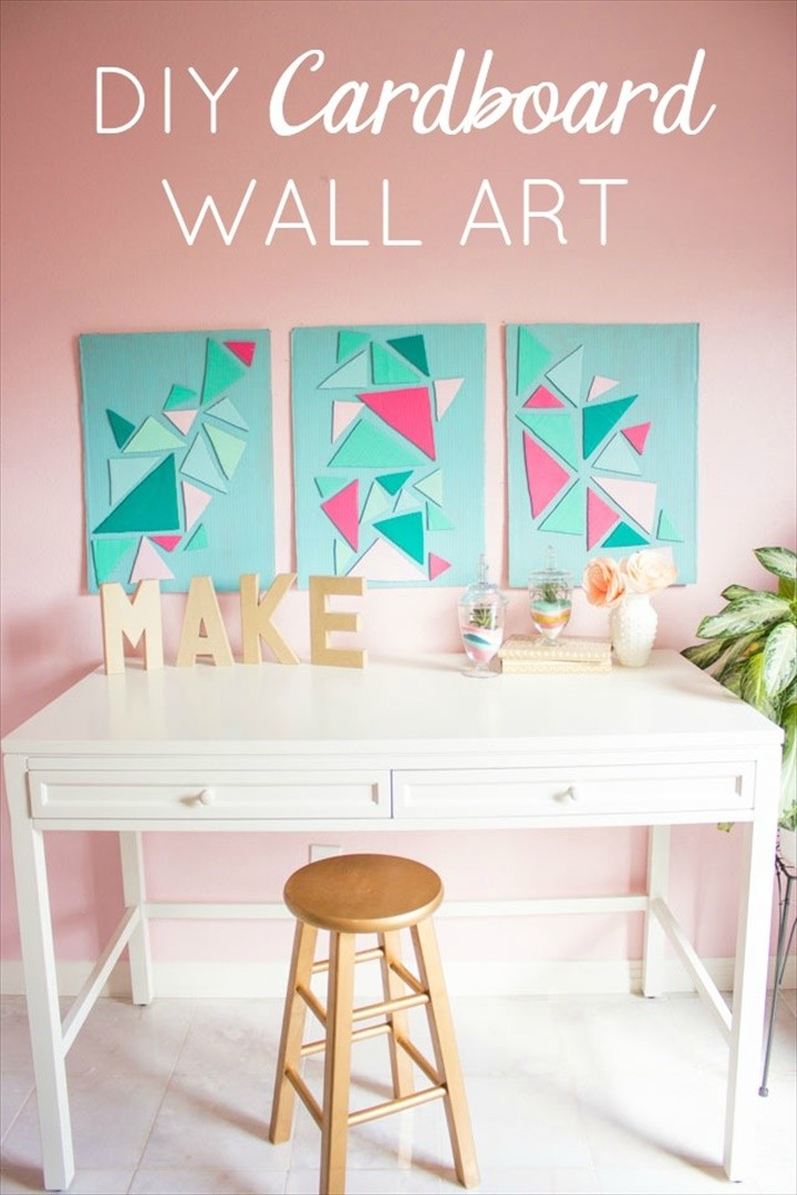 How to Turn a Cardboard Box into Wall Art
