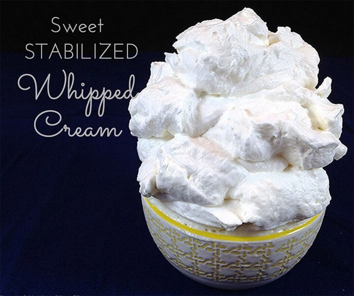 How to make sweet Stabilized Stiff Whipped Cream