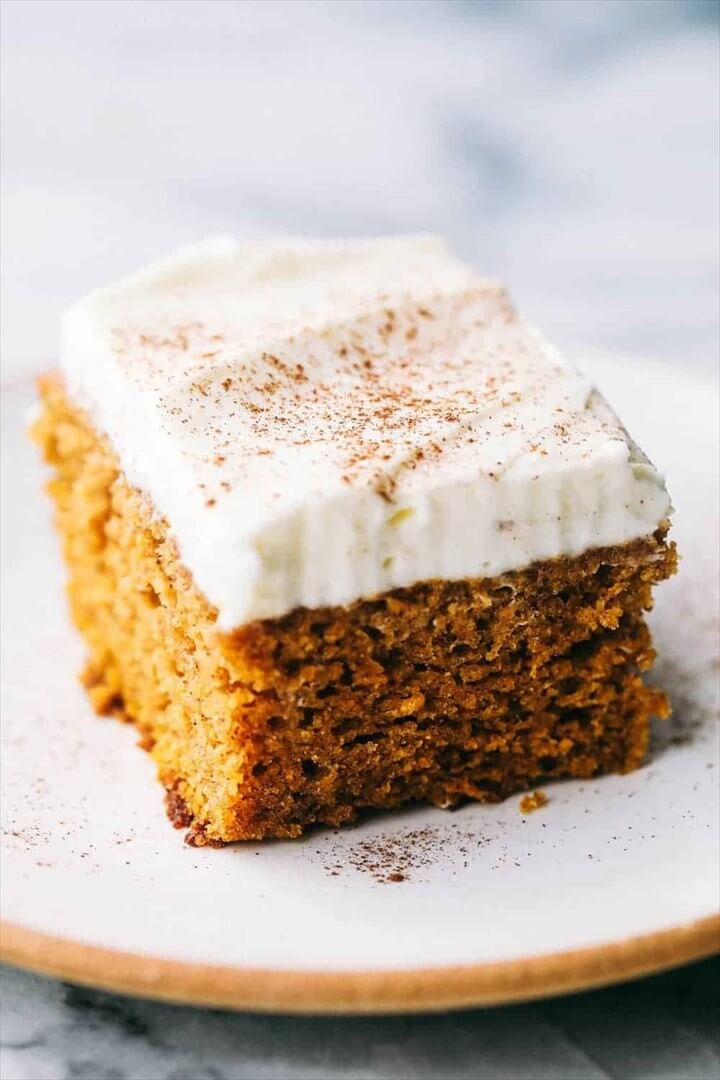 Incredible Pumpkin Cake with Cream Cheese Whipping Cream Frosting