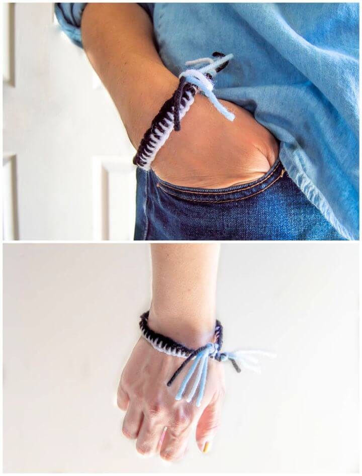 Ladder Stitch Friendship Bracelet
