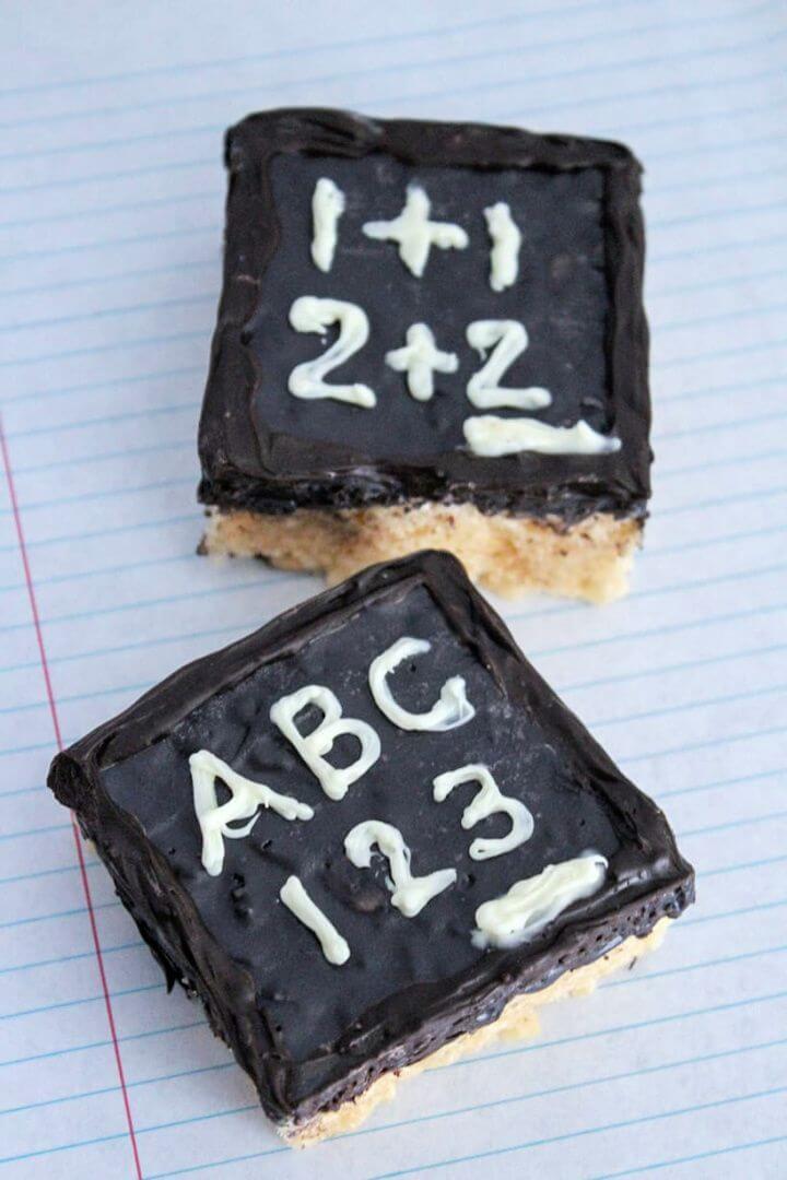 Make A DIY Back to School Chalkboard Rice Krispie Treats