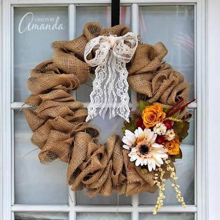 Make A DIY Burlap Wreath