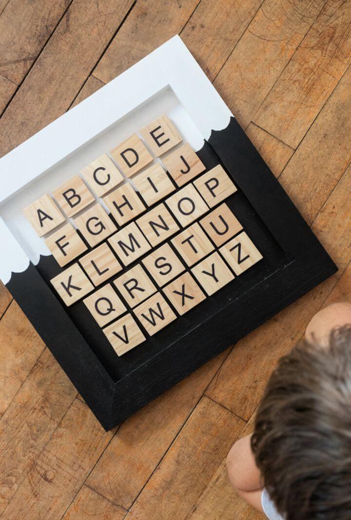 Make A DIY Magnetic Alphabet Chart for Kids
