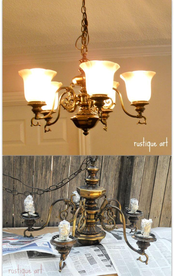 Make A DIY Rustic Mason Jar Chandelier
