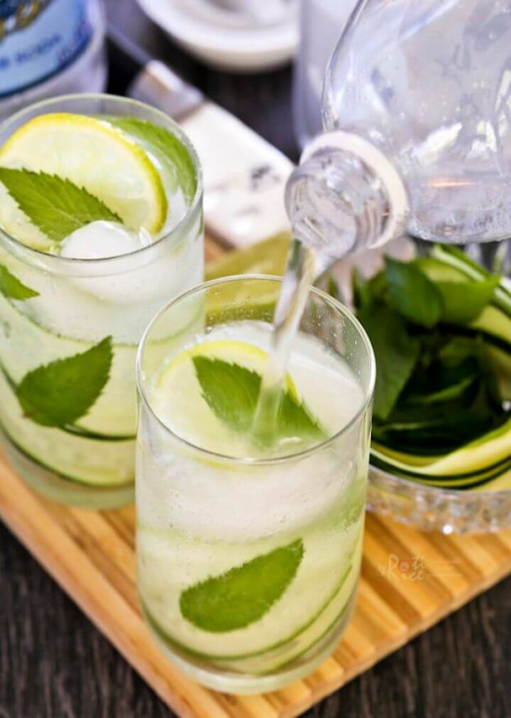 Make Your Own DIY Cucumber Mint Cooler 1