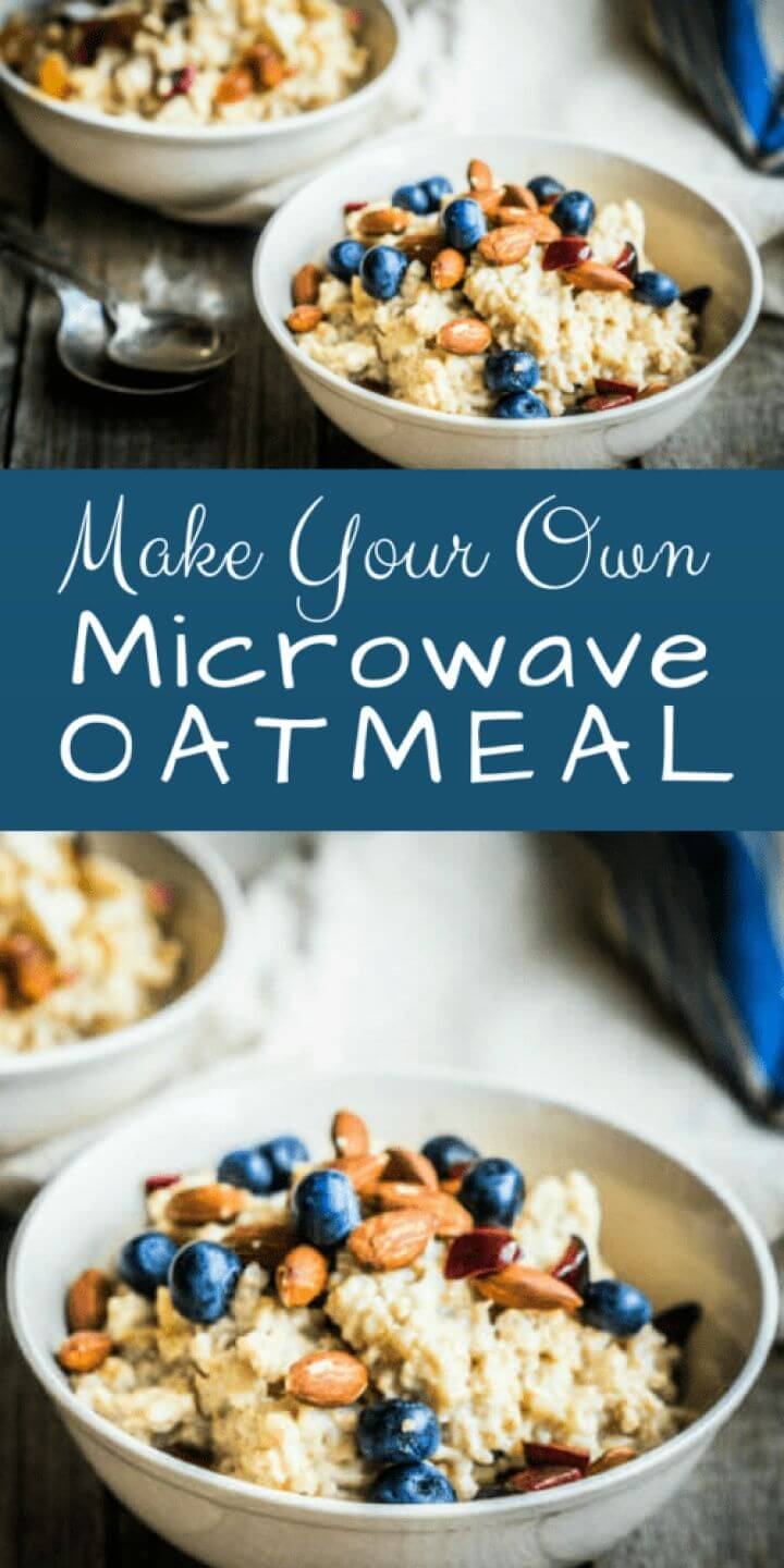 Make Your Own DIY Microwave Oatmeal