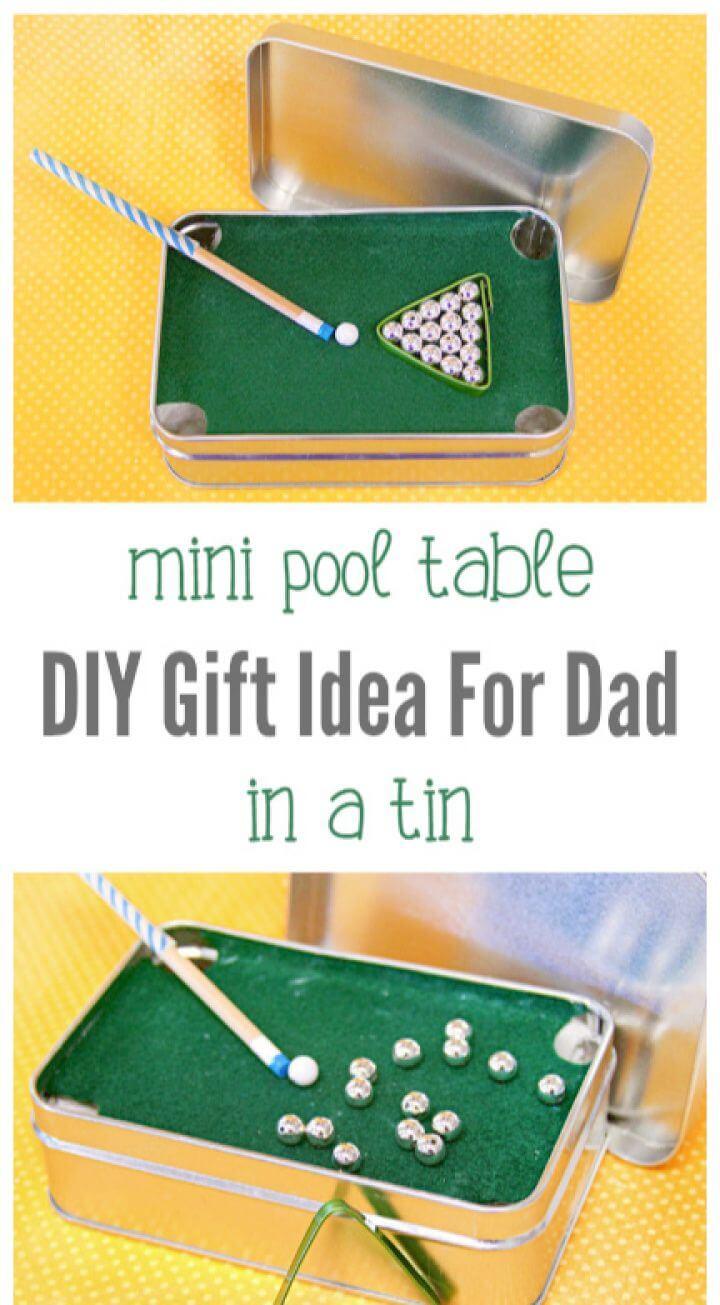 Mini Pool Table In A Tin