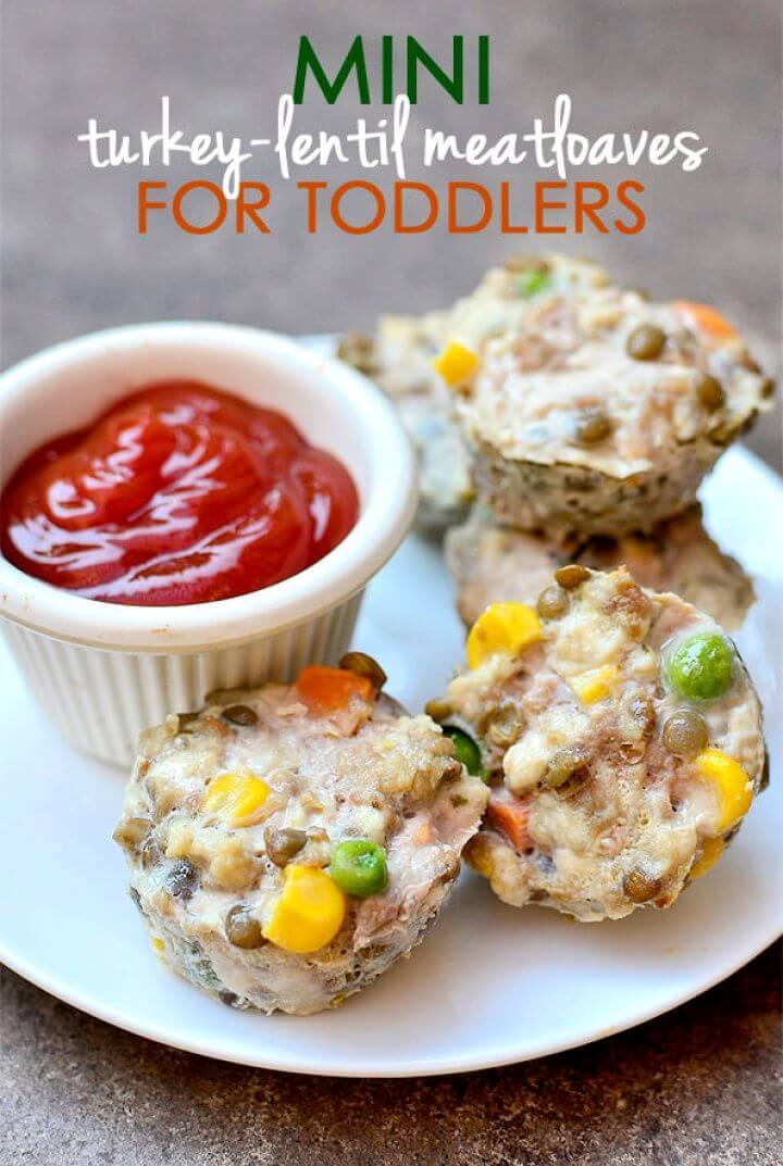 Mini Turkey Lentil Meatloaves For Toddlers