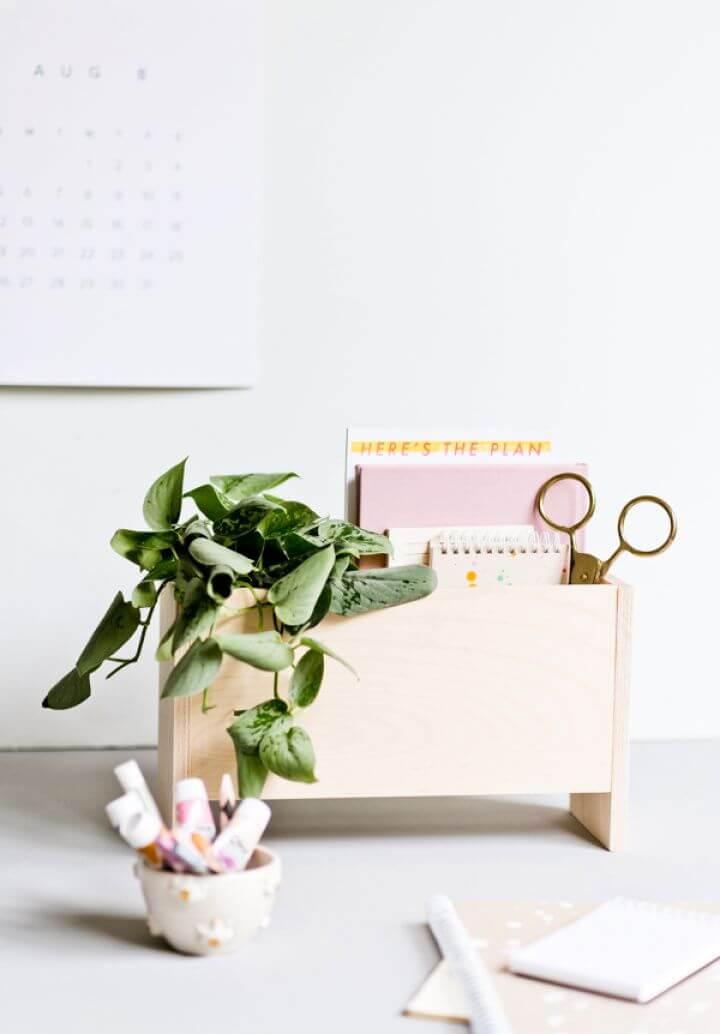 Modern DIY Desk Organizer For Back To School And Beyond