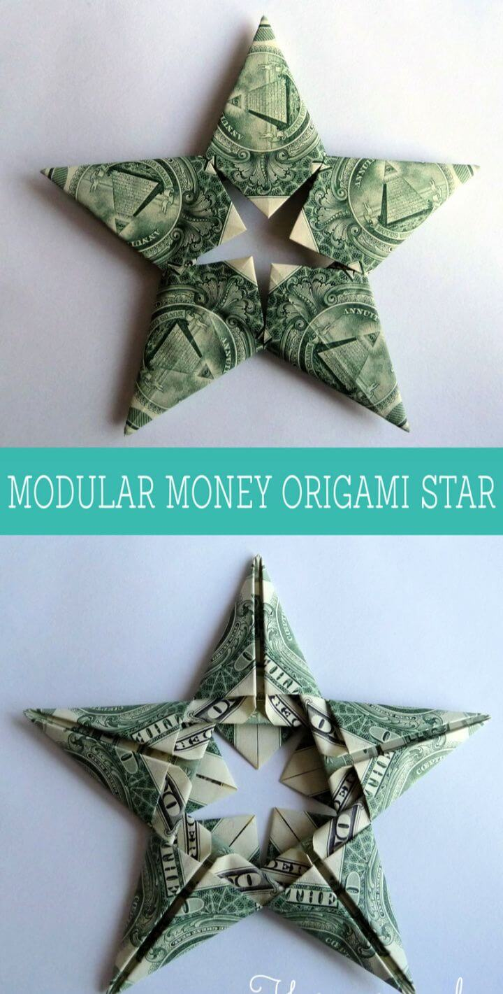 Modular Money Origami Star