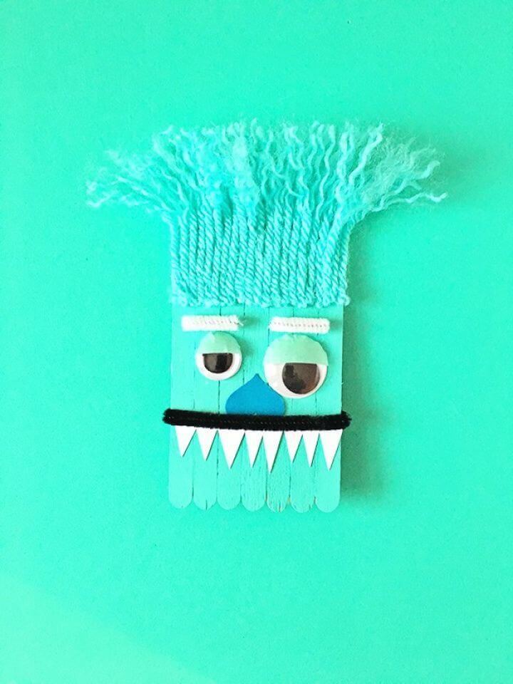 Monster And Unicorn Popsicle Stick Craft