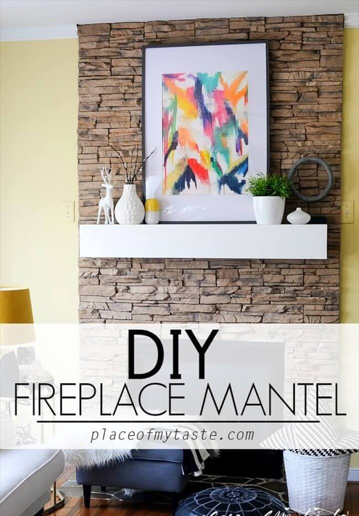 No Carpenter No Problem DIY Fireplace Mantel DIY