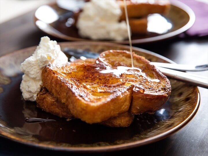 Orange Rum Challah French Toast With Whipped Cream Recipe