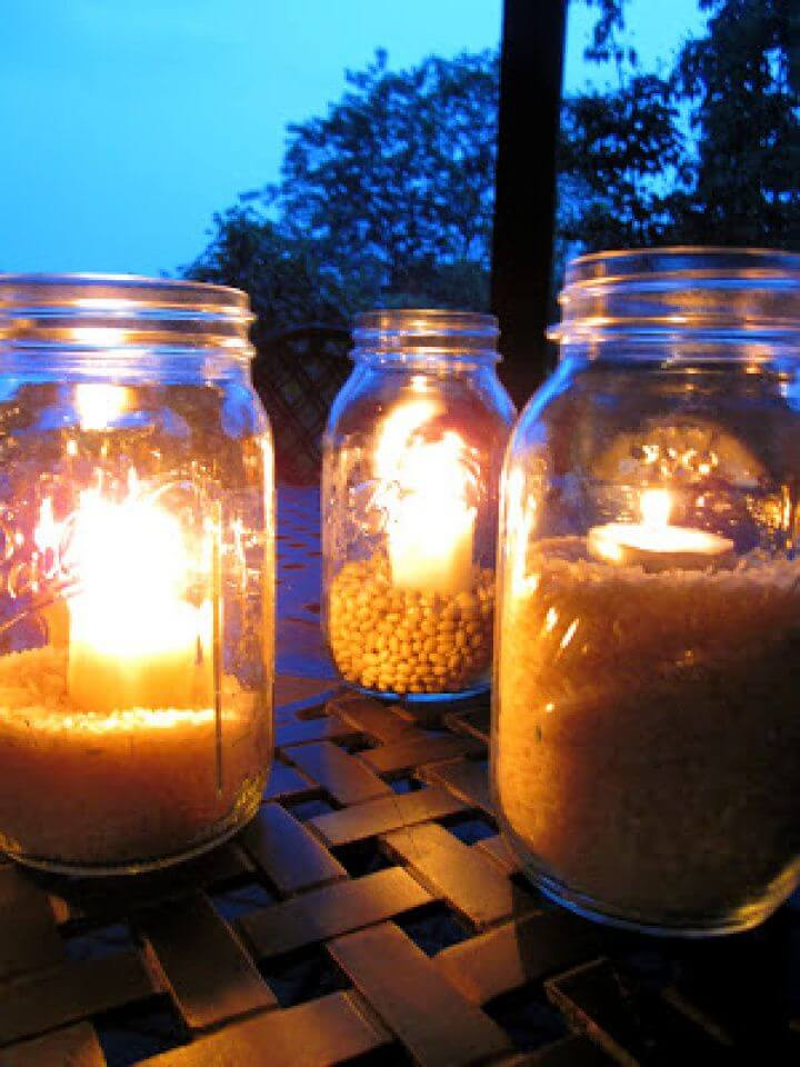 Outdoor Mason Jar Lights