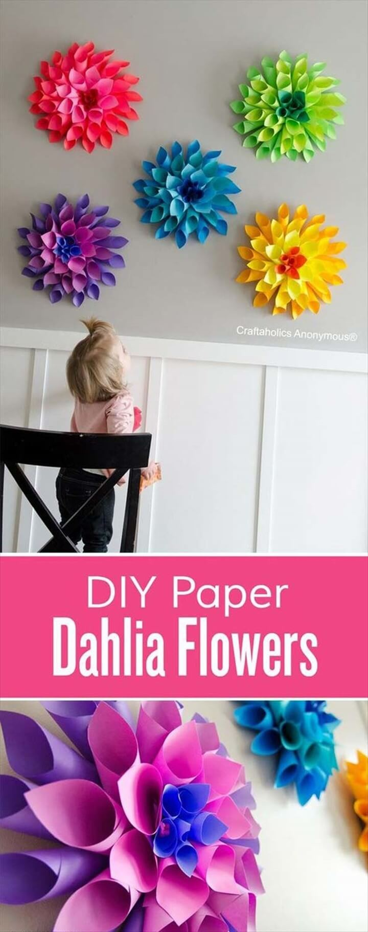 Paper Flowers Great Decorations For the Nursery Wall DIY