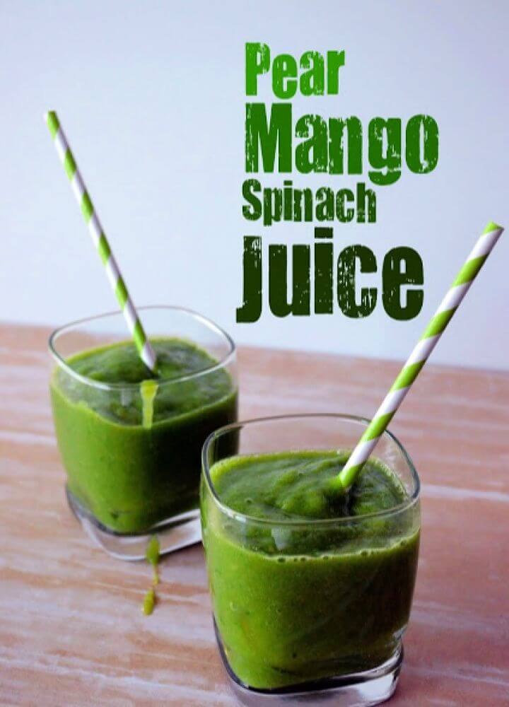 Pear Mango Spinach Juice 4