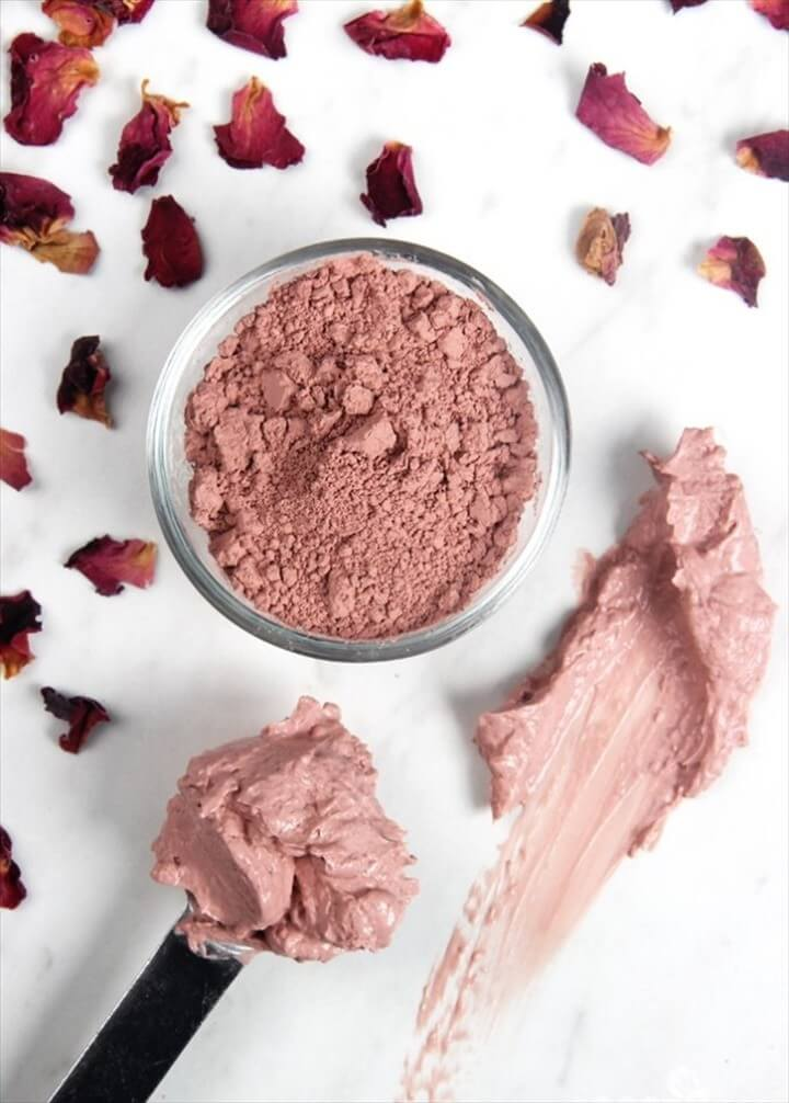 Pink Rose Clay Mineral Mask DIY