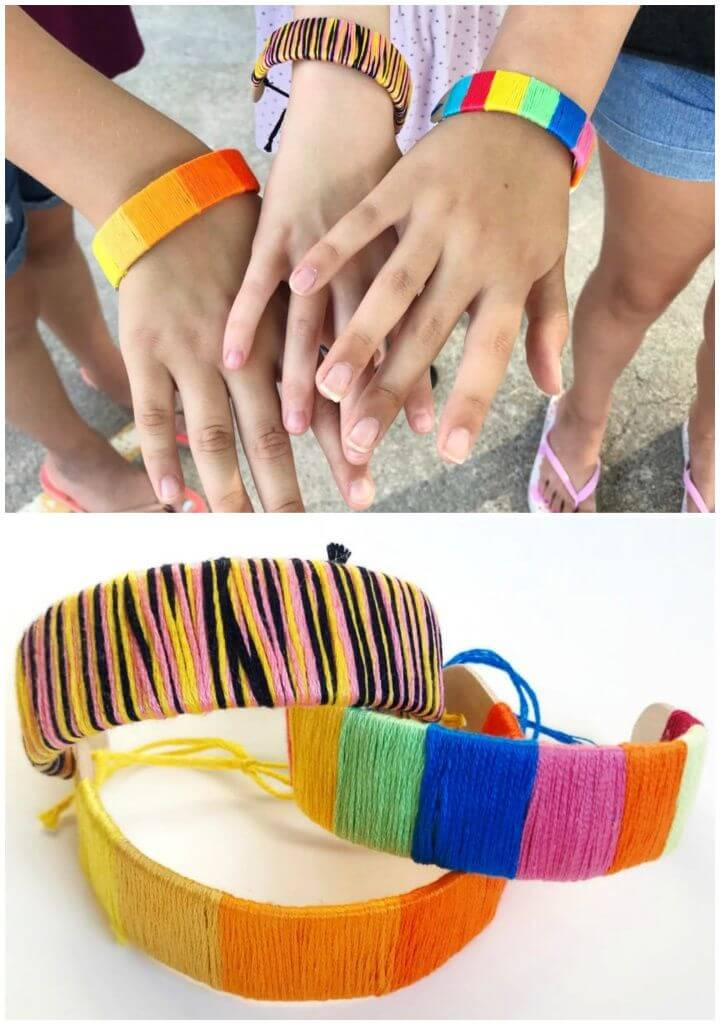 Popsicle Stick Bracelets a Fun and Wearable Kids Crafts