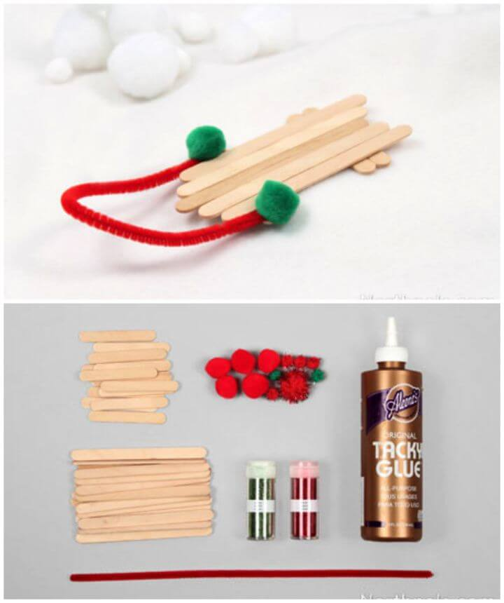 Popsicle Stick Sled