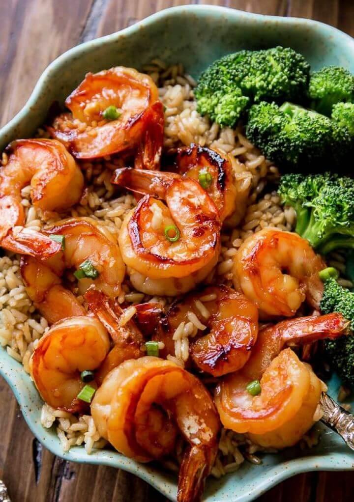 Quick Healthy Dinner 20 Minute Honey Garlic Shrimp