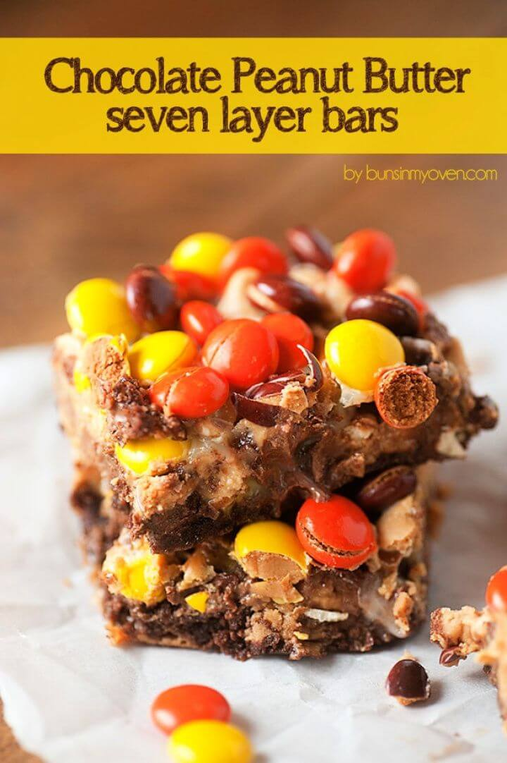 Reese's Chocolate Peanut Butter Seven Layer Bars 1