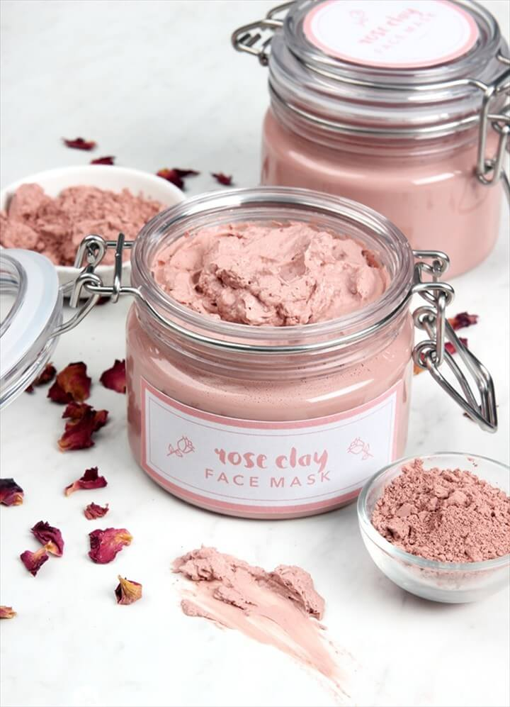 Rose Clay Face Mask DIY Tutorial