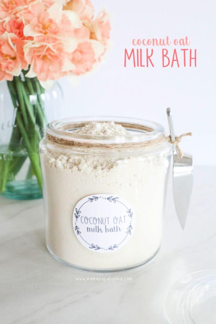 Simple DIY Coconut Oat Milk Bath