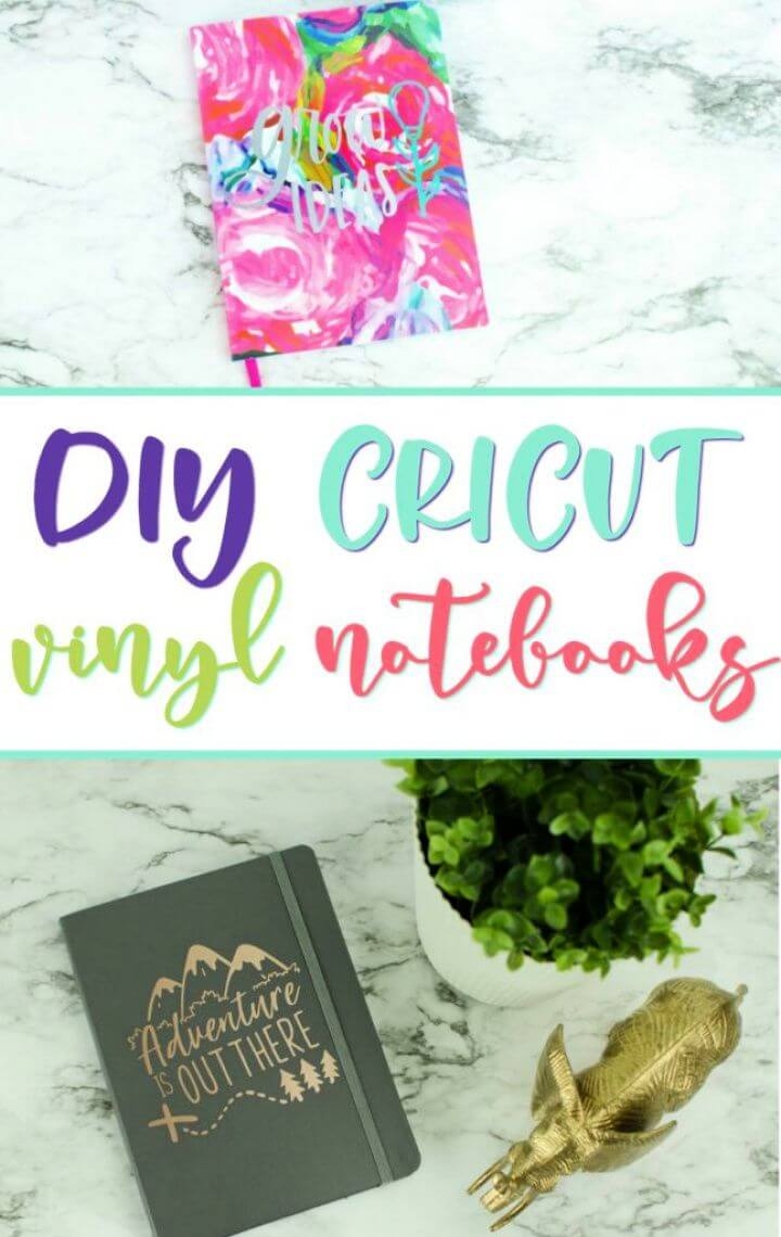 Simple DIY Cricut Vinyl Decal Notebooks