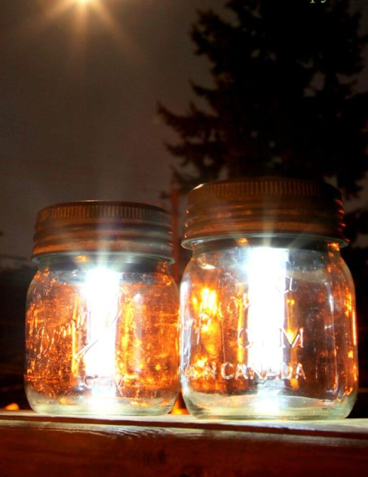 Simple DIY Mason Jar Solar Lights